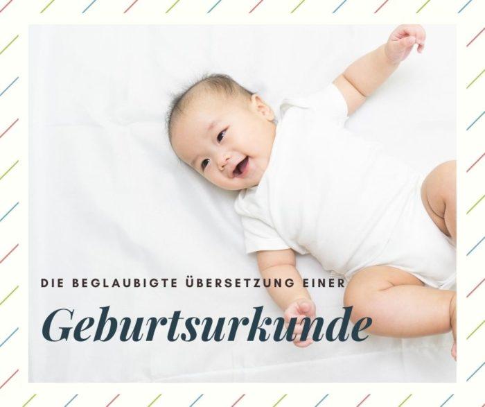 Übersetzung einer Geburtsurkunde - Bild Baby