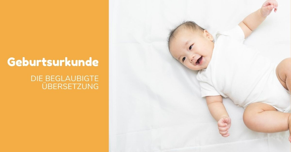 Banner Übersetzung einer Geburtsurkunde